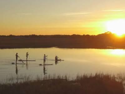 Kiawah sunset paddleboarding