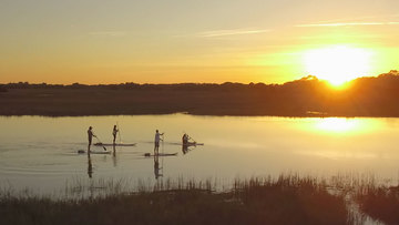 Kiawah sunset paddleboarding